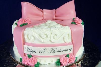 15th Wedding Anniversary Cake Images